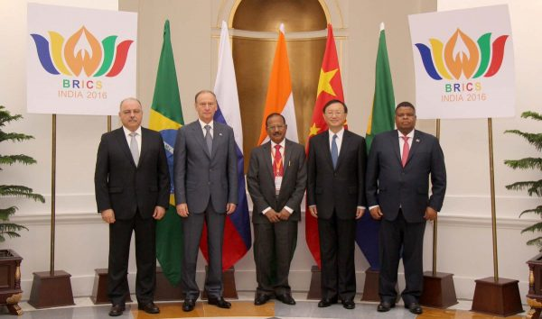 Top security officials of the five countries met in New Delhi ahead of next month's 8th BRICS Summit [Image: State Security Agency, South Africa]