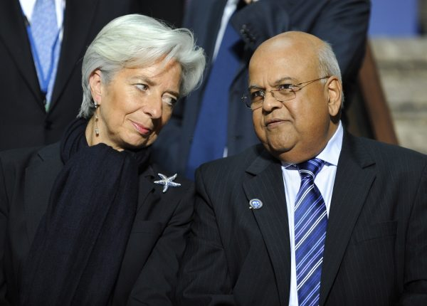 Gordhan, right, seen here with IMF chief Christine Lagarde, has always said that the charges against him were politically motivated [Xinhua]