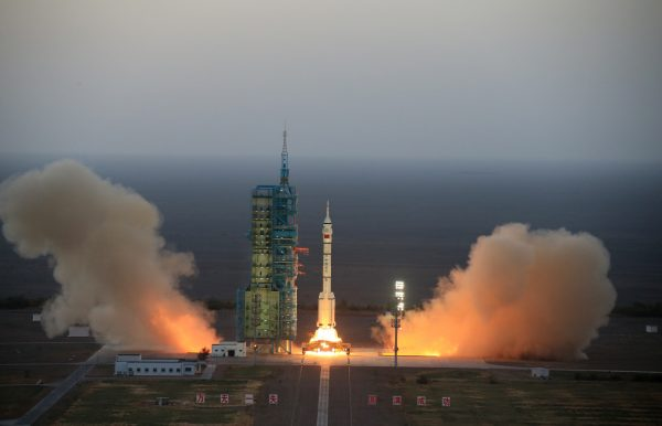 The spacecraft will dock with orbiting space lab Tiangong-2 within two days, and the astronauts will stay in the space lab for 30 days [Xinhua]