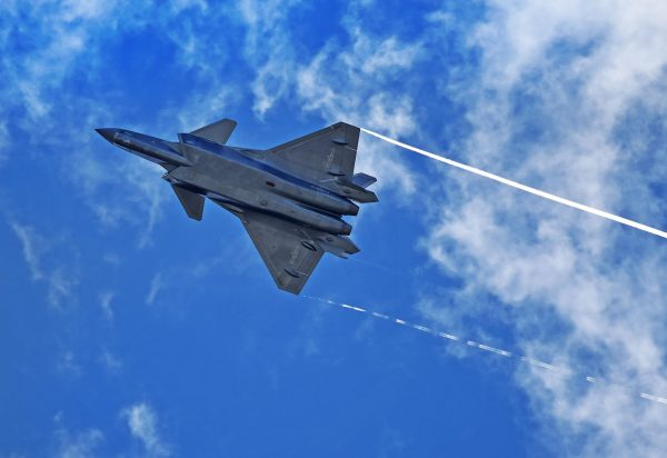 The J-20 is China's most advanced fifth-generation fighter jet and will be featured at the air show this week [Xinhua]