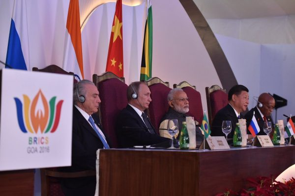 BRICS leaders at the 8th BRICS Summit in Goa, India on 16 October 2016 [Image: BRICS2016]