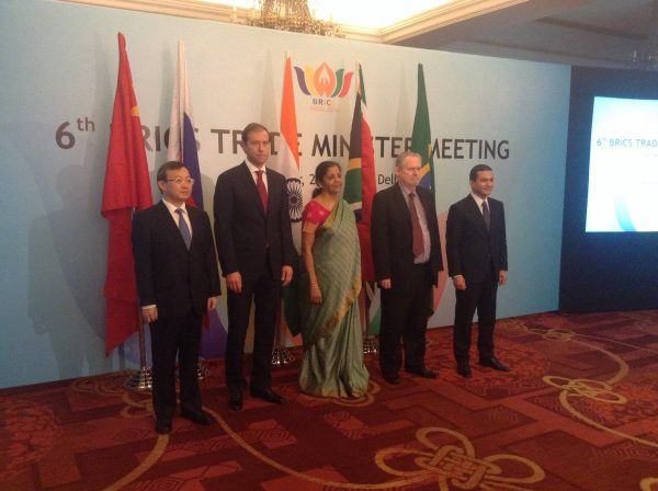 6th BRICS Trade Ministers meet in New Delhi, India on 13 October 2016 [Image: Commerce Ministry, India]