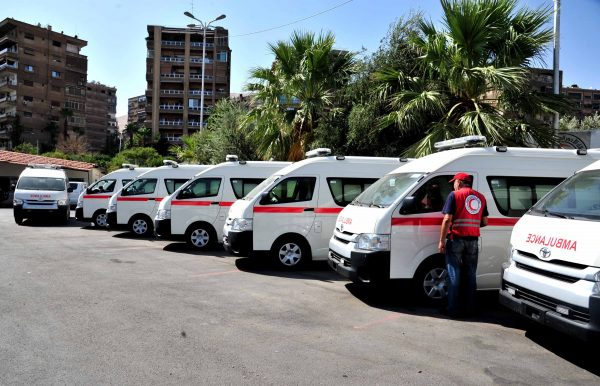 The Syrian Red Crescent has already dispatched dozens of ambulances to war-torn Aleppo [Xinhua]