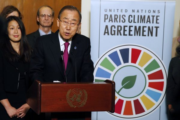 "The Secretary-General called the entry into force of the Paris Climate Agreement a ""historic moment"" [Xinhua]"