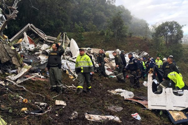 The plane went down in stormy weather but investigators are still looking for answers in the Colombian forest [Xinhua]